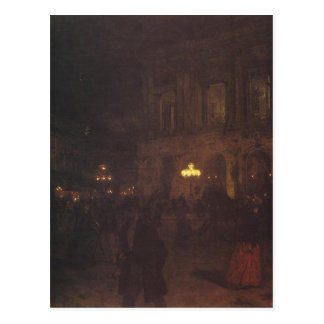Nocy du paryska W d'opéra par Aleksander Gierymski Carte Postale