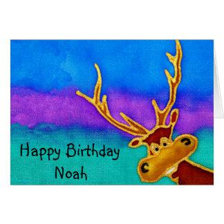 Noé, carte idiote de mâle de joyeux anniversaire