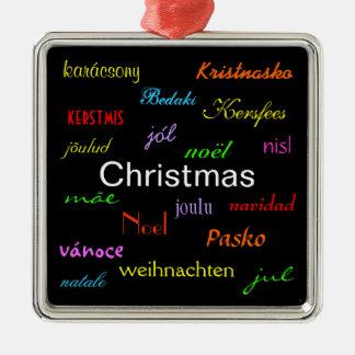 Noël autour du monde dans le noir IV Ornements De Noël