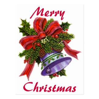 Noël Bell argentée Carte Postale