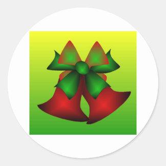 Noël Bells III Sticker Rond