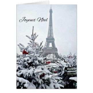 Noël blanc français carte