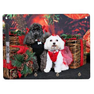 Noël - caniche d'Amiche - Tinkerbell maltais