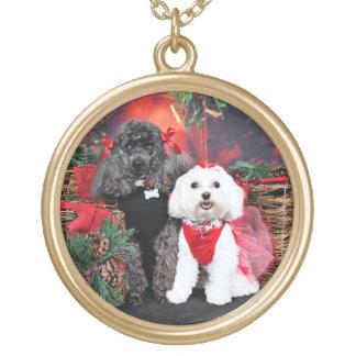 Noël - caniche d'Amiche - Tinkerbell maltais Collier Plaqué Or