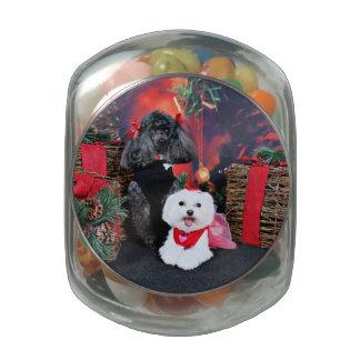 Noël - caniche d'Amiche - Tinkerbell maltais Pots En Verre