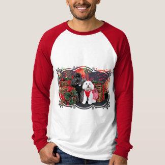Noël - caniche d'Amiche - Tinkerbell maltais T-shirt
