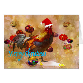 Noël d'amants de poulet carte