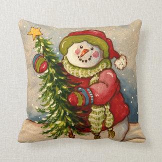 Noël de 4889 bonhommes de neige coussins carrés