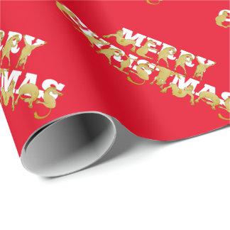 Noël de bande dessinée de poney Joyeux Papiers Cadeaux