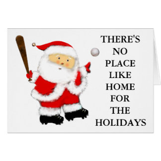 Noël de base-ball carte
