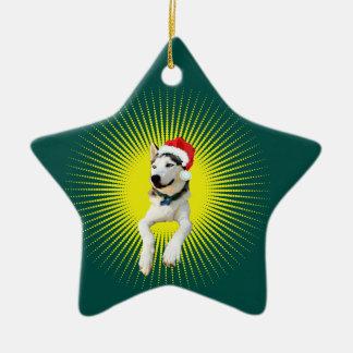 Noël de costaud sibérien ornement étoile en céramique
