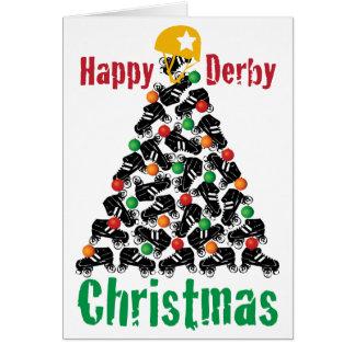 Noël de Derby de rouleau, patinage de rouleau Carte