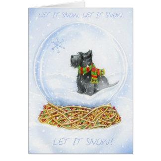 Noël de globe de neige de Scottie Carte De Vœux