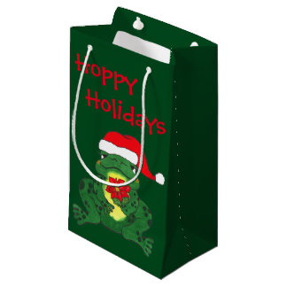 Noël de houblon de grenouille - sac de cadeau