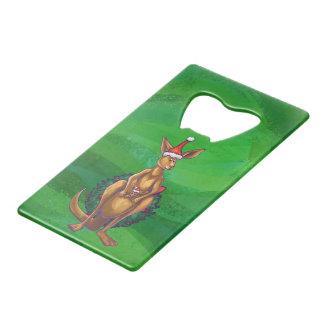 Noël de kangourou sur le vert peint arrière