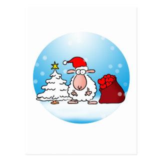 Noël de mouton carte postale