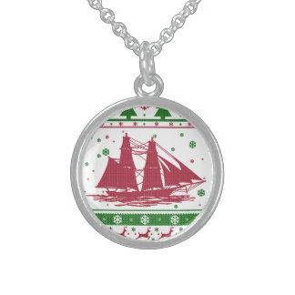 Noël de navigation collier en argent