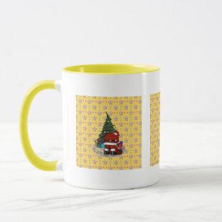 Noël de père et l'arbre de Noël Mug