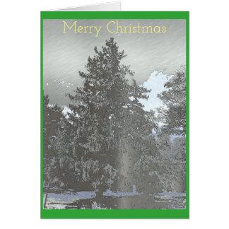 Noël de photo d'arbre carte de vœux