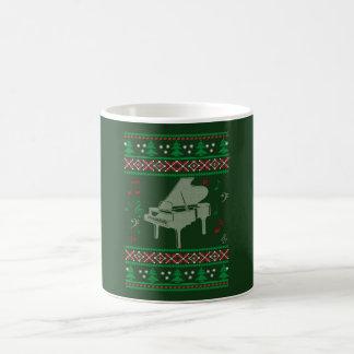 Noël de piano mug blanc