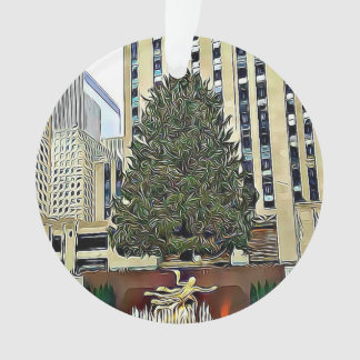 Noël de piste de patinage d'arbre de NYC