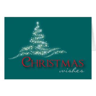 Noël de scintillement souhaite la carte