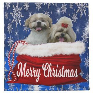 Noël de serviette de tissu de tzu de Shih