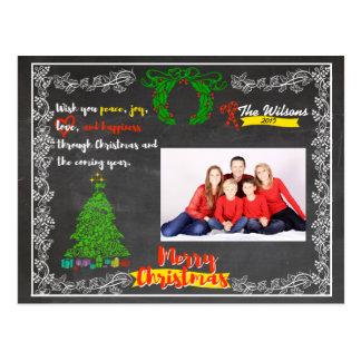 Noël de tableau carte postale