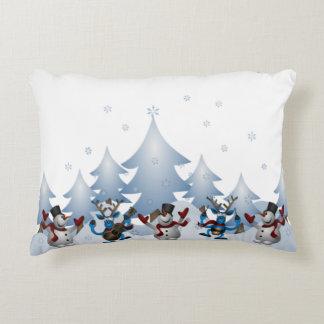 Noël de vacances d'hiver de renne de bonhomme de coussins décoratifs