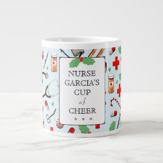 Noël d'infirmière grande tasse