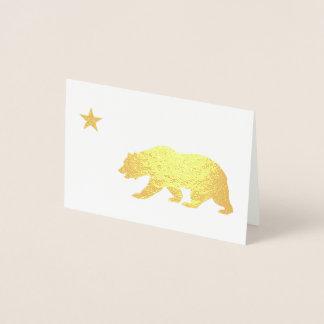 Noël d'or de la Californie Carte Dorée