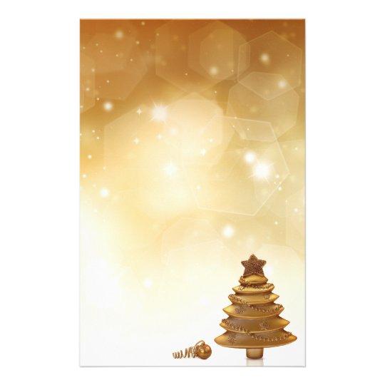 Noël d'or - en-tête de lettre de papeterie
