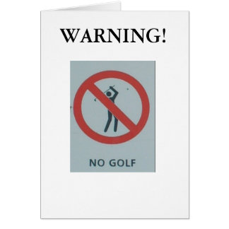 "Noël drôle carte de ""aucun golf"""