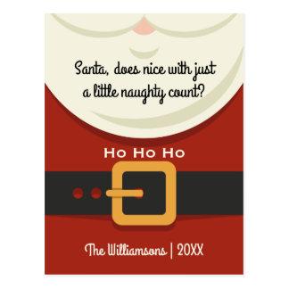 Noël drôle le père noël vilain et Nice Cartes Postales