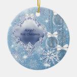 Noël du bébé bleu de glace du pays des merveilles  ornements