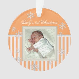 Noël du bébé d'ornement de photo ęr