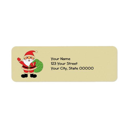Noël du père noël étiquettes d'adresse retour