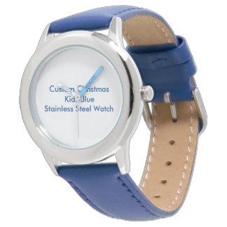 Noël fait sur commande badine la montre bleue