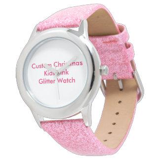 Noël fait sur commande badine la montre rose de montres cadran