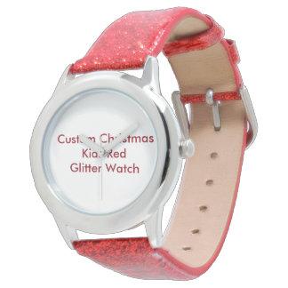 Noël fait sur commande badine la montre rouge de