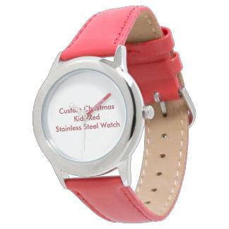 Noël fait sur commande badine la montre rouge montres cadran