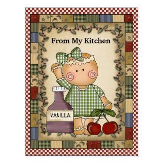Noël Gingherbread de ma carte postale de cuisine
