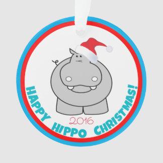 Noël heureux d'hippopotame : Souvenir adorable de