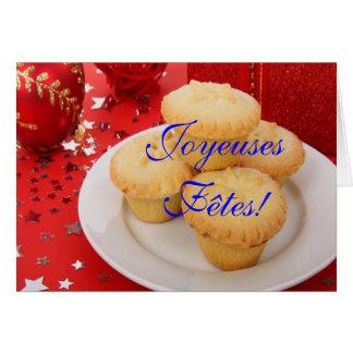Noël Joyeuses Fêtes et année III de bonne Carte De Vœux