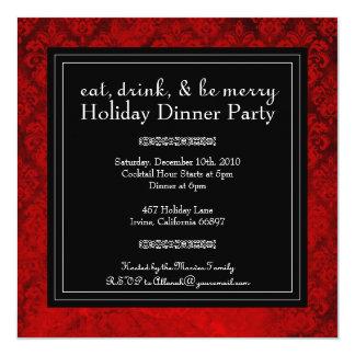 Noël mangent, boisson et soient joyeux invitation