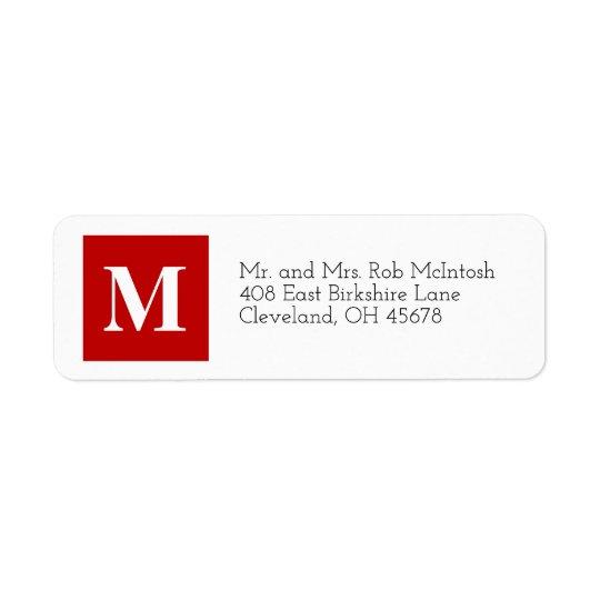 Noël moderne cube l'étiquette de vacances étiquette d'adresse retour