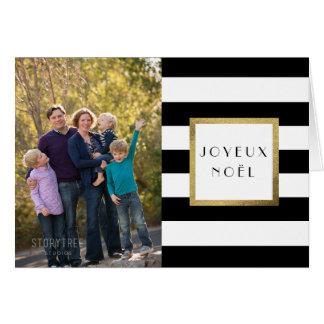 """Noël noir et blanc de photo de """"Joyeux Noël"""" de Carte De Vœux"""