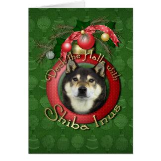 Noël - plate-forme les halls - Shiba Inus - Yasha Carte