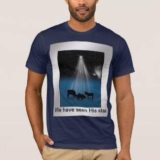 Noël, religieux, nativité, se tient le premier t-shirt