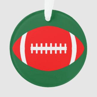 Noël rouge et vert colore Noël du football